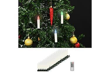 Trådløse LED-julestearinlys med fjernkontroll 100 stk RGB