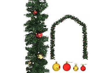 Julegarland dekorert med kuler 5 m