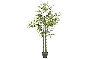 Kunstig bambusplante med potte grønn 160 cm