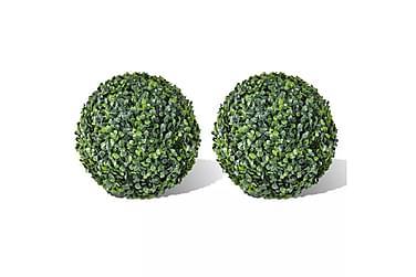 Kunstig Buksbom Ball Utendørsbelysning 35 cm 2 stk