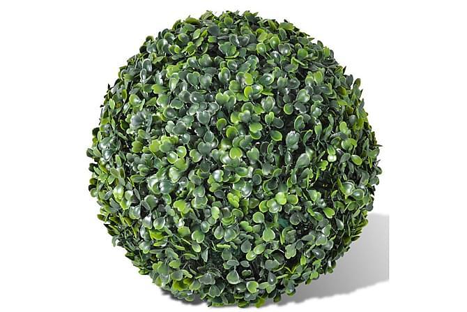 Kunstig Buksbom Ball Utendørsbelysning 35 cm 2 stk - Innredning - Dekorasjon - Kunstige planter