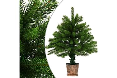 Kunstig juletre med kurv 65 cm grønn