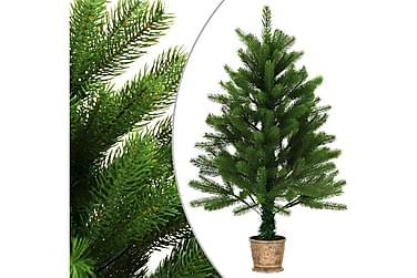 Kunstig juletre med kurv 90 cm grønn
