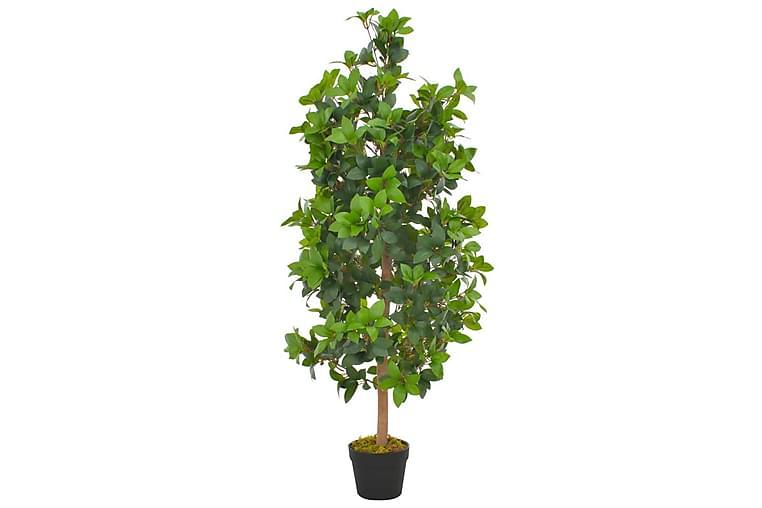 Kunstig laurbӕrtre med potte grønn 120 cm - Innredning - Dekorasjon - Kunstige planter
