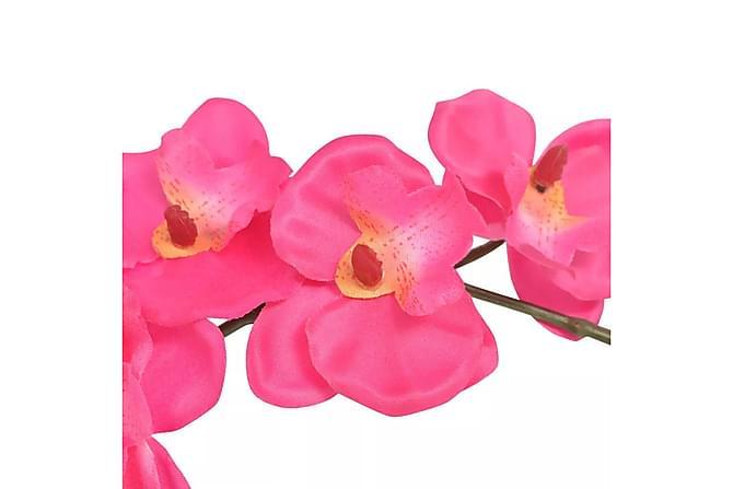 Kunstig orkidè med potte 30 cm hvit - Innredning - Dekorasjon - Kunstige planter