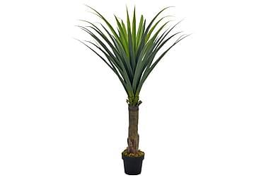 Kunstig yucca-tre med potte grønn 145 cm