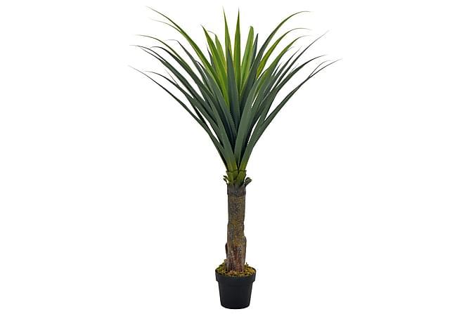 Kunstig yucca-tre med potte grønn 145 cm - Innredning - Dekorasjon - Kunstige planter