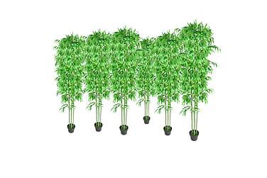 Bambus Kunstige Planter Dekorasjon sett med 6