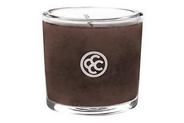 Duftlys Glass Votive Mahogany Leather