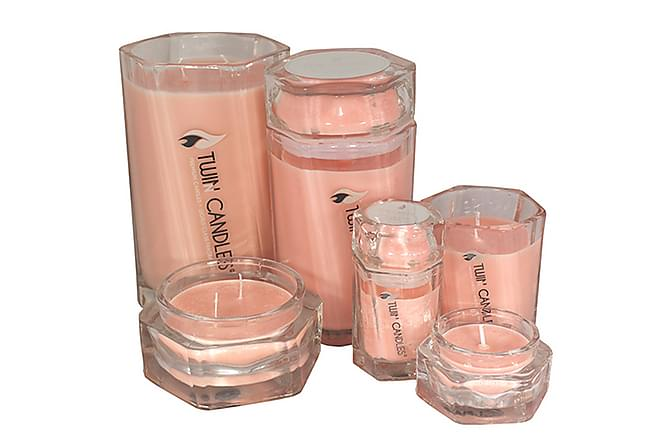 Twin Candles Petit - Rhubarb Sake - Innredning - Dekorasjon - Duftlys & romdufter
