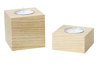 Evila Originals Varmelysestake Sett med 2 6 cm Tre