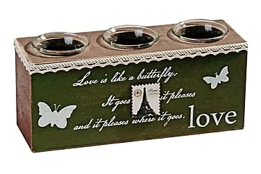 Kosova Varmelysestake 3 Lys 24x11 cm Love Tre