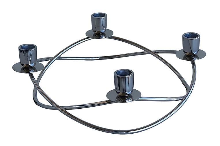 Ring Lyestake 31x32 cm Sølv - AG Home & Light - Innredning - Dekorasjon - Lysestaker og lykter