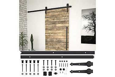 Utstyr for skyvedør 200 cm stål svart