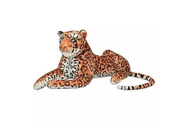 Leopardleke Plysj Brun XXL