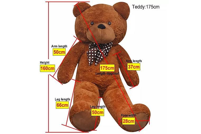 Plysjbamse XXL myk brun 175 cm - Innredning - Innredning barnerom - Dekorasjon til barnerom