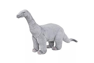 Stående lekedinosaur brachiosaurus grå XXL