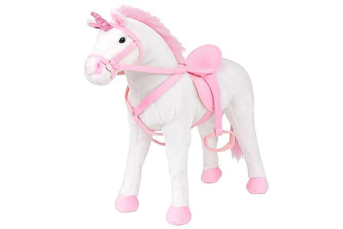 Stående lekeenhjørning hvit og rosa XXL - Innredning - Innredning barnerom - Dekorasjon til barnerom