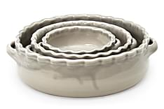 3-sett rund gratengform Betonggrå