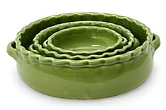 3-sett rund gratengform Mørkegrønn