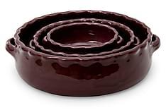 3-sett rund gratengform Vinrød