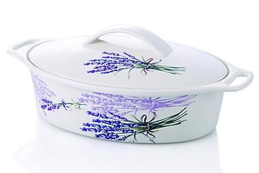 Noble Life Ovnsform m Lokk 30 cm Ovalt Porselen
