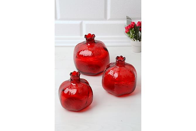 Kosova Dekorasjonsglass Glass - Rød - Innredning - Kjøkkenutstyr - Glass