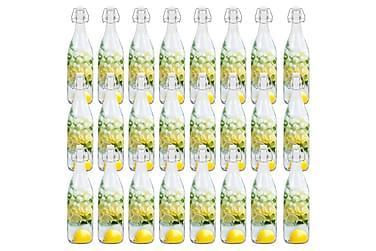 Glassflasker med klipslukking 24 stk 1 L