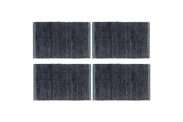 Bordmatter 4 stk Chindi ren antrasitt 30x45 cm bomull - Grå - Innredning - Kjøkkenutstyr - Tekstiler kjøkken
