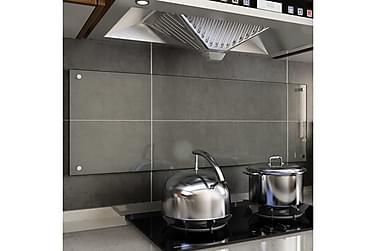 Kjøkkenplate gjennomsiktig 120x40 cm herdet glass