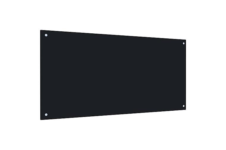 Kjøkkenplate svart 120x60 cm herdet glass - Svart - Innredning - Kjøkkenutstyr - Kjøkkenutstyr
