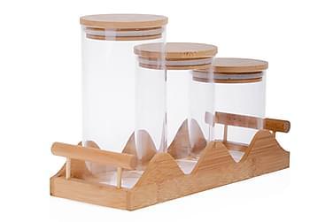Kosova Kryddersett 7 Deler Bambus/Glass