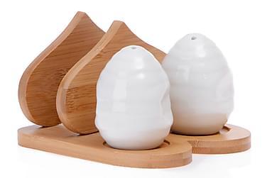 Kosova Salt-og Peppersett Bambus/Porselen
