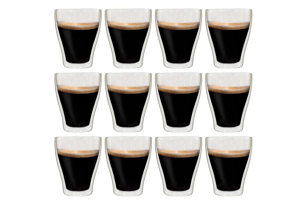 Dobbeltveggede glass til Latte Macchiato 12 stk 370 ml - Innredning - Kjøkkenutstyr - Mugger & kopper