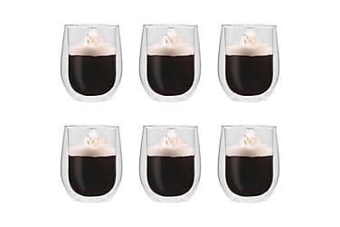 Dobbeltvegget espressoglass 6 stk 320 ml