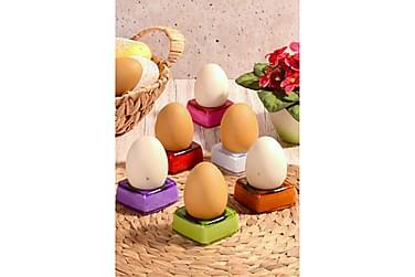 Kosova Eggeglass 6-pk 6 cm Kvadrat Akryl
