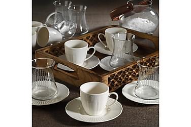 Kütahya Te-og Kaffeservise 18 Deler Porselen