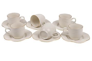 Kütahya Kaffeservise 12 Deler Porselen