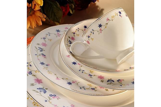Kütahya Middagsservise 84 Deler Porselen - Hvit/Flerfarget - Innredning - Kjøkkenutstyr - Porselen