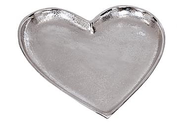 Fat Alu Hjerte Sølv