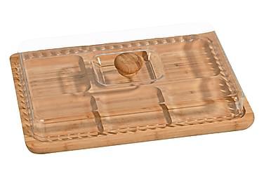 Kosova Frokostsett 2 Deler 33 cm Firekantig Bambus