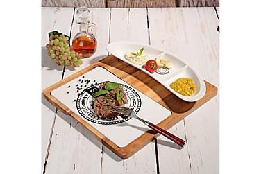 Kosova Serveringssett 26 cm Bambus