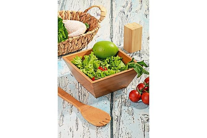 Kosova Salatskål 17,8 cm Bambus - Brun - Innredning - Kjøkkenutstyr - Skåler & bakeskåler