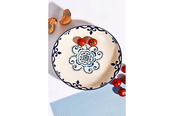 Kosova Salatskål 30 cm Keramikk - Blå - Innredning - Kjøkkenutstyr - Skåler & bakeskåler