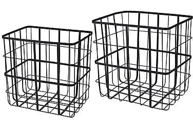 Trådkurver til Aviser eller Oppbevaring Sett med 2