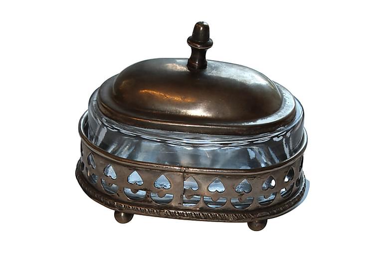 Oppbevaringsboks Oval 14x12 cm Sølv - AG Home & Light - Innredning - Kurver & bokser - Oppbevaring til småting