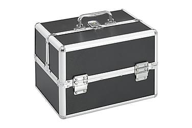 Sminkeveske 22x30x21 cm svart aluminium