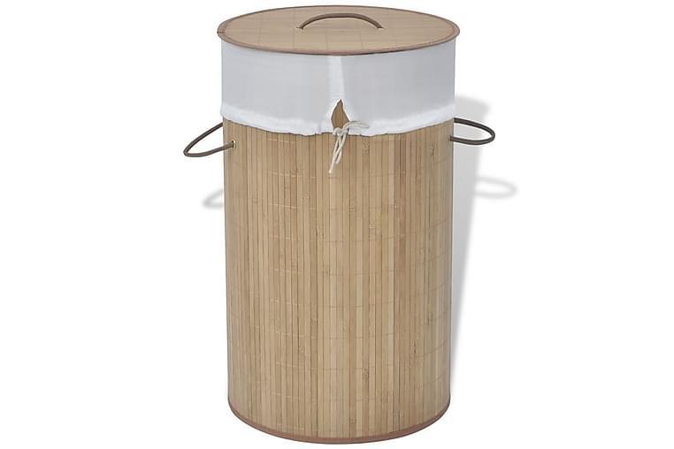 Skittentøyskurv rund bambus naturell - Innredning - Kurver & bokser - Skittentøyskurv