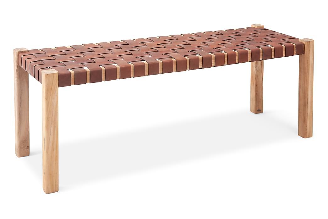 Akane Benk 120 cm - Mocca/Teak - Innredning - Små møbler - Benk