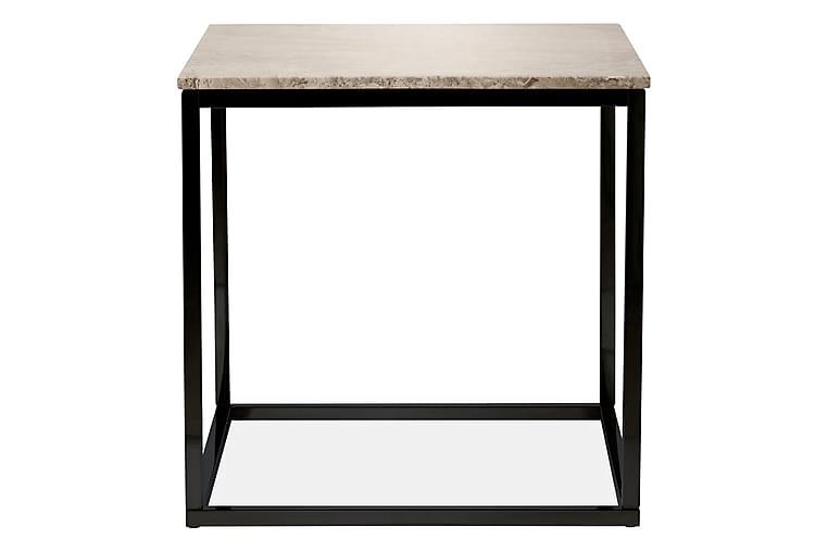 Carrie Sidebord 45 cm Marmor - Beige/Svart - Innredning - Små møbler - Brettbord og småbord